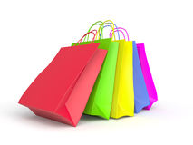 Colored paper shopping bags Royalty Free Stock Photos