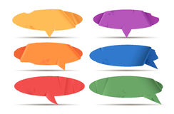 Colored paper speech bubble Stock Photography
