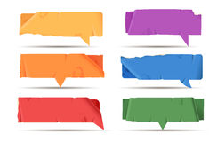 Colored paper speech bubble Royalty Free Stock Photos