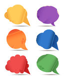 Colored paper speech bubble Stock Images