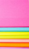 Colored paper stickers Stock Image