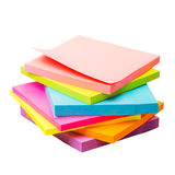 Colored paper stickers Stock Images