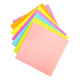 Colored paper stickers Stock Photos