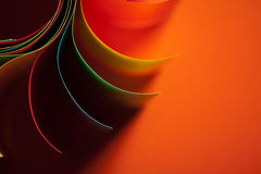Colored paper structure shaped as the sun Royalty Free Stock Photos