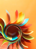 Colored paper structure shaped as the sun Royalty Free Stock Image
