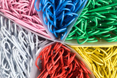 Colored Paperclips Stock Images