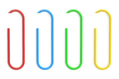 Colored Paperclips and Paper, 3D rendering Stock Images