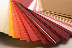 Colored papers Royalty Free Stock Photo