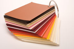 Colored papers Stock Image