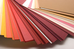 Colored papers Stock Images