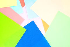 Colored papers background Stock Photography