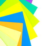 Colored papers background Stock Photo