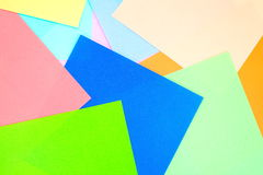 Colored papers background Royalty Free Stock Photo
