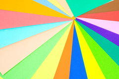 Colored papers background Stock Photos