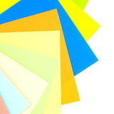 Colored papers background Royalty Free Stock Photography