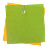 Colored papers with staple. Background photo of Colored papers with staple Royalty Free Stock Photo