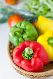 Colored paprika (pepper) Royalty Free Stock Images