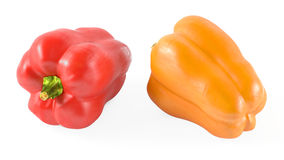 Colored paprika pepper isolated Stock Image