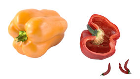 Colored paprika pepper isolated Royalty Free Stock Photography