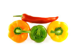 Colored paprika (pepper) Stock Photo