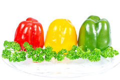 Colored paprika. red, yellow, green Stock Image