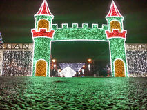 Colored park prepare for Christmas Royalty Free Stock Image