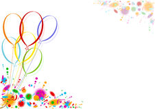Colored Party Balloons Stock Photo