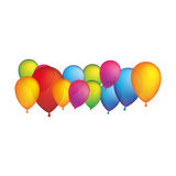 Colored party balloons icon. Illstraction design image Stock Images