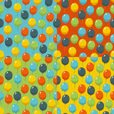 Colored party baloons pattern. Birthday, wedding, anniversary, jubilee, rewarding and winning invitation design. Royalty Free Stock Photography