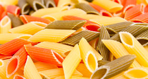 Colored pasta Stock Image