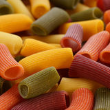 Colored pasta closeup Royalty Free Stock Images