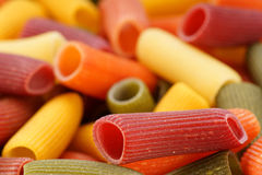Colored pasta closeup Stock Photography