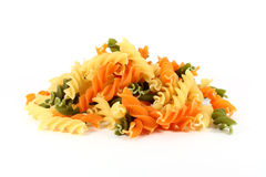 Colored pasta fusilli Stock Image
