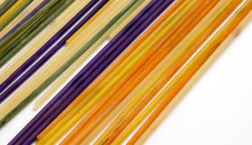 Colored pasta painted in different color. Photo Stock Photo