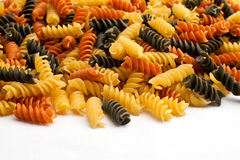 Colored Pasta Spill Stock Images