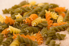Colored pasta Stock Photography