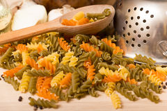 Colored pasta Royalty Free Stock Photography
