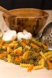 Colored pasta Stock Photo