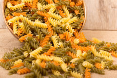 Colored pasta Stock Images