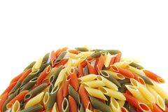 Colored pasta Royalty Free Stock Images