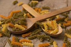 Colored pasta Stock Photos