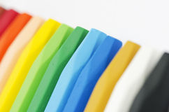 Colored pastels Stock Images