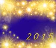 Colored 2015 pattern Royalty Free Stock Image
