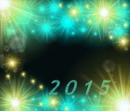 Colored 2015 pattern Stock Image
