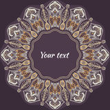 Colored pattern with decorative circular ornament Royalty Free Stock Photos