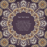 Colored pattern with decorative circular ornament Stock Image