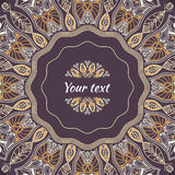 Colored pattern with decorative circular ornament Stock Images