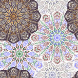 Colored pattern with decorative circular ornaments Stock Photo