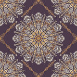 Colored pattern with decorative circular ornaments Royalty Free Stock Images