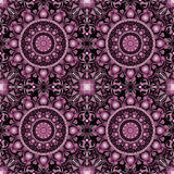 Colored pattern with decorative symmetric ornaments Stock Photo